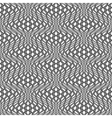 Design seamless monochrome wave pattern vector