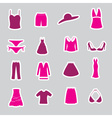 Womens clothing stickers set eps10 vector