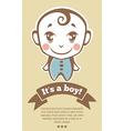 It is a boy vector