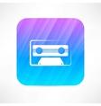 Audio tape icon vector