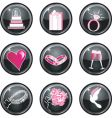 Wedding buttons vector