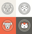 Dog and cat icons and logos vector