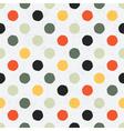 Seamless variegated polka dot pattern vector