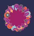 Fantasy mandala purple design vector