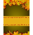 Autumn card of colored leafs eps 8 vector