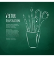 Art tools in holder vector