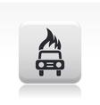 Burning car icon vector