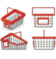 Shopping bucket from several positions vector