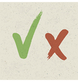 Check marks on paper texture eps10 vector