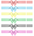 Festive bows with ribbons vector