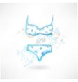 Swimsuit grunge icon vector