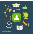 Set of flat icons for study vector