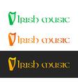 Irish music logotype vector
