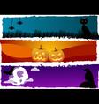 Halloween scenes vector