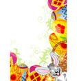 Easter frame with eggs vector