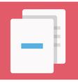 Delete documents icon vector