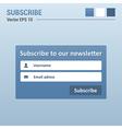 Subscribe box vector