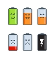 Battery indicator icons vector