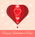 Abstract heart air ballon valentines day greeting vector