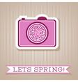 Motivation list design with digital camera vector