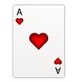 Heart ace vector