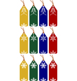 Christmas or winter tags vector