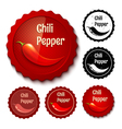 Chili banner retro vector