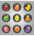 Fruit machine icons vector