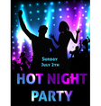 Hot night party vector