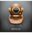 Background of underwater diving suit helmet vector