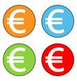 Euro sign button set vector
