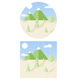 Hipster landscape flat style vector
