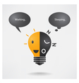 Creative light bulb idea idea balance concept vector