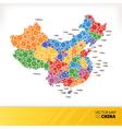Map of china vector