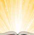 Shining open book vector