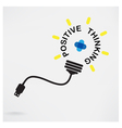 Creative light bulb idea business idea vector