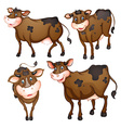 Brown cow vector