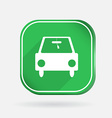 Car symbol color square icon vector