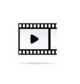 Play movie symbol vector