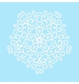 Winter celtic knot pattern card mandala amulet vector