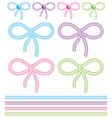 Cute bows vector