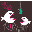 Angry business-fishes vector