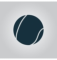 Tennis ball icon sign and button vector