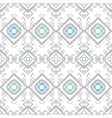 Grey blue tribal geometric seamless pattern vector