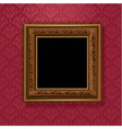 Picture frame on vintage wallpaper vector