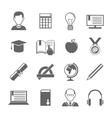 E-learning icon set vector