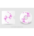 Cd dvd blu-ray white cover design template vector