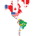 North and south america vector