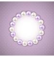 Vintage pearl frame background vector