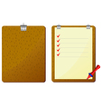Red pencil to clipboard vector